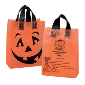 Pumpkin Frosted Shopper Halloween Bag