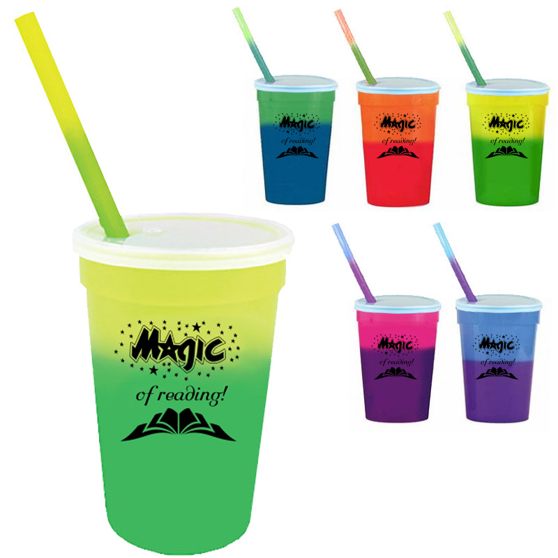 MOOD CUP with LID & STRAW